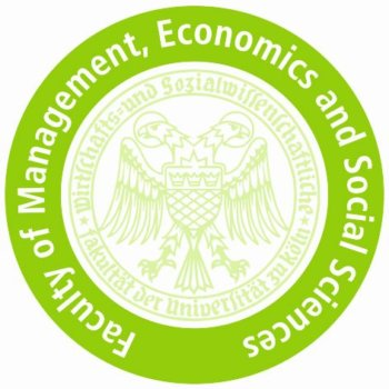 Logo of the Faculty of Management, Economics and Social Sciences of the University of Cologne.